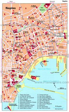 Map of Naples Tourist Attractions | PlanetWare in 2019 ...