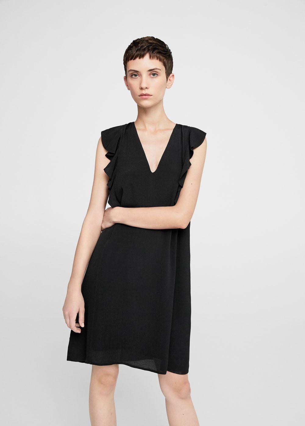 Dökümlü fırfırlı elbise - Elbise - Kadın   mango   Pinterest   Mango 67eb6044f690