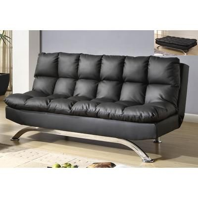 Nice Worldwide Homefurnishings Inc.   Sussex Klik Klak Convertible Sofa Bed Black    108