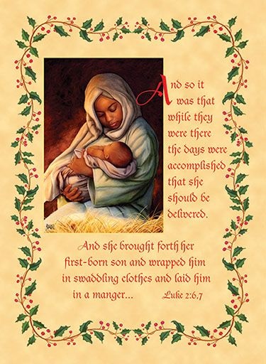 Christmas african american clipart madonna african - African american christmas images ...