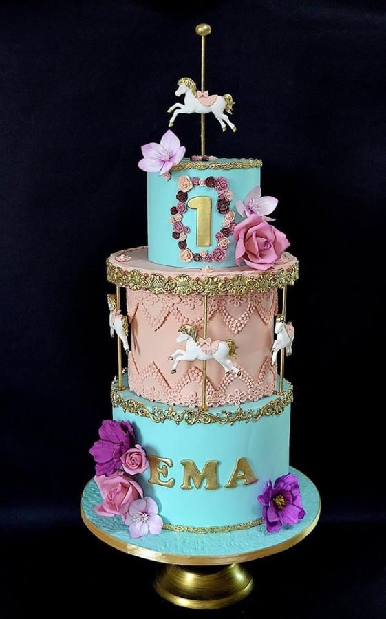 19 round cake decor