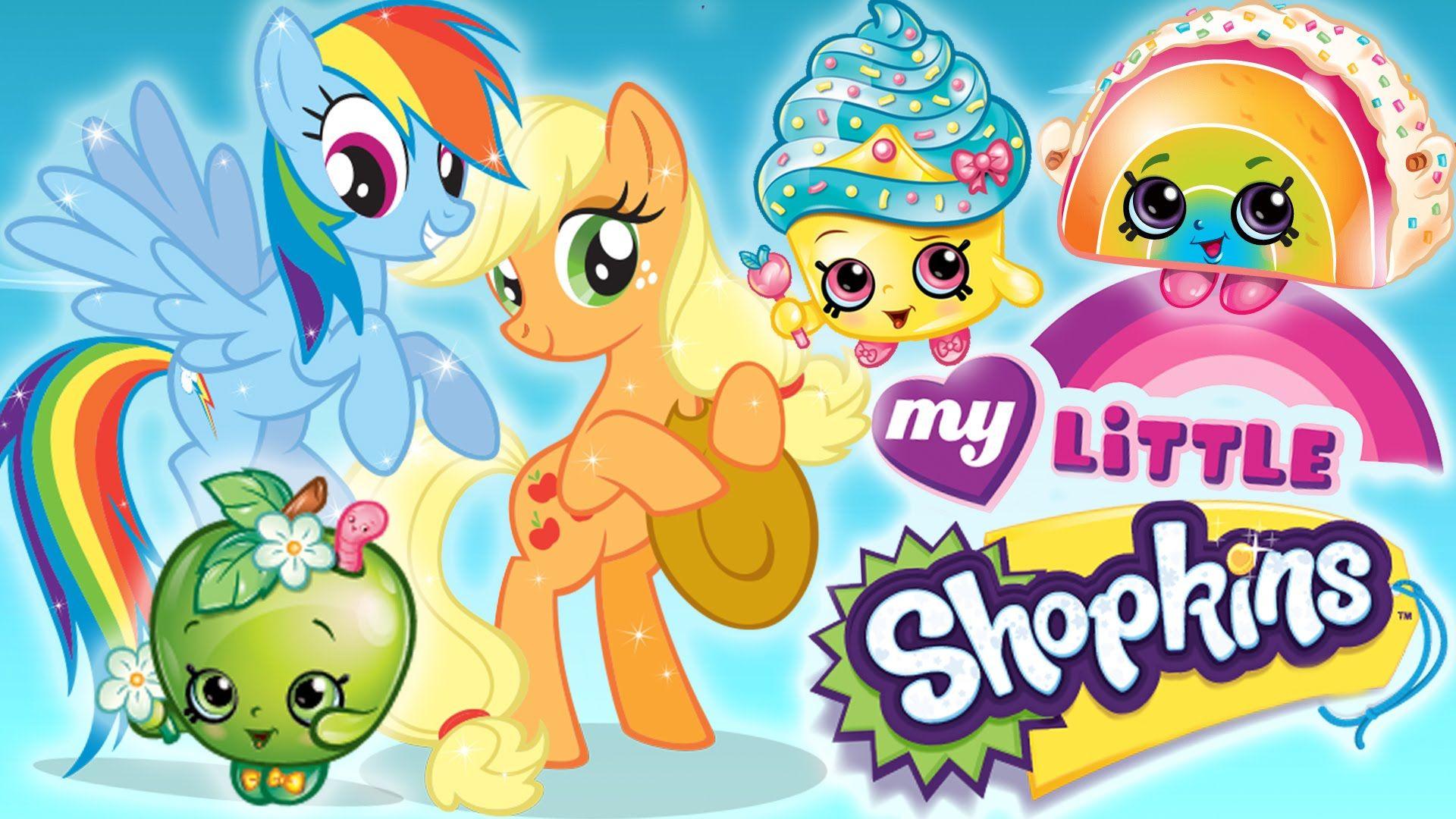 Shopkins Go To Ponyville - My Little Shopkins!   Pinkie Pie, Rainbow Das...