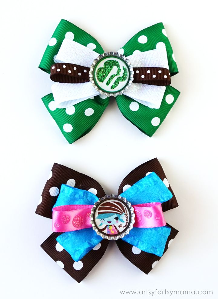 Girl Scout Bottle Cap Hair Bows Girl Scout Fundraising Girl Scout Activities Girl Scout Crafts