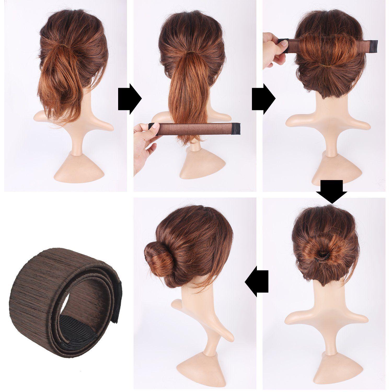 Hair Bun Maker Doughnut Dount Style Bands French Twist Magic Easy Snap DIY Tool