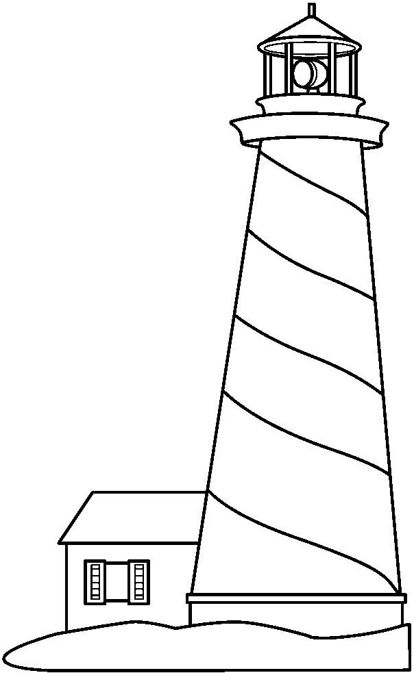 Black And White Lighthouse Clip Art Sketch Coloring Page Lighthouse Clipart Lighthouse Crafts Lighthouse