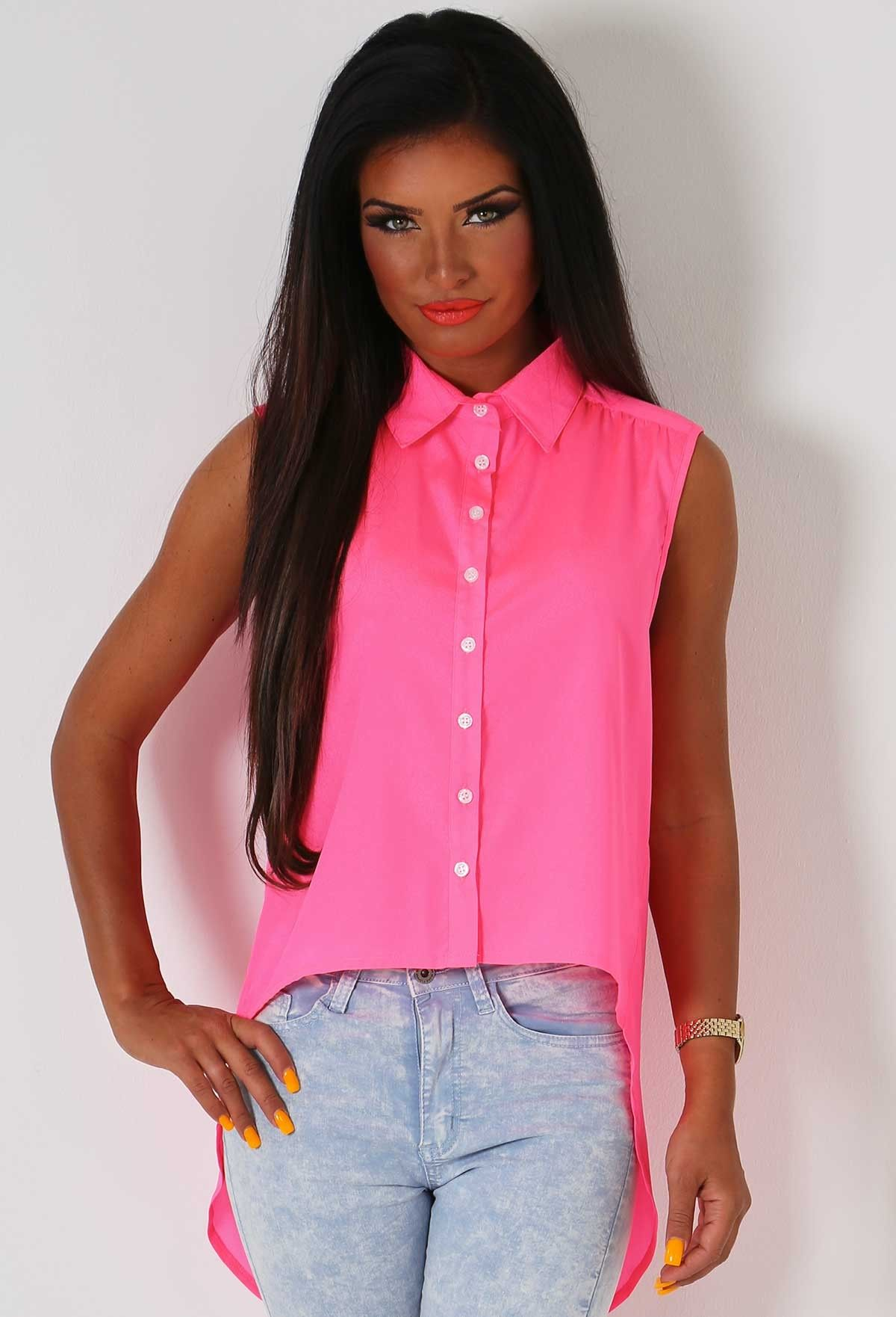 Charisse Neon Pink Backless Shirt   Pink Boutique   Expensive Taste ...