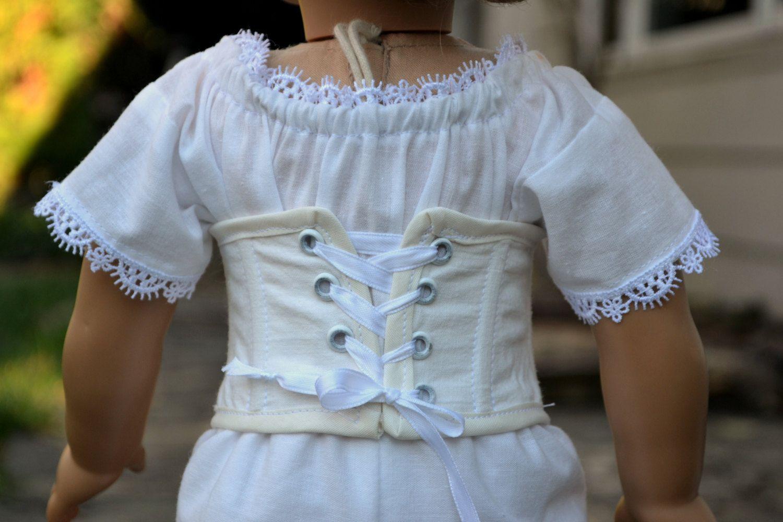 Doll Corset and Hoop Skirt Victorian Underpinnings American Girl
