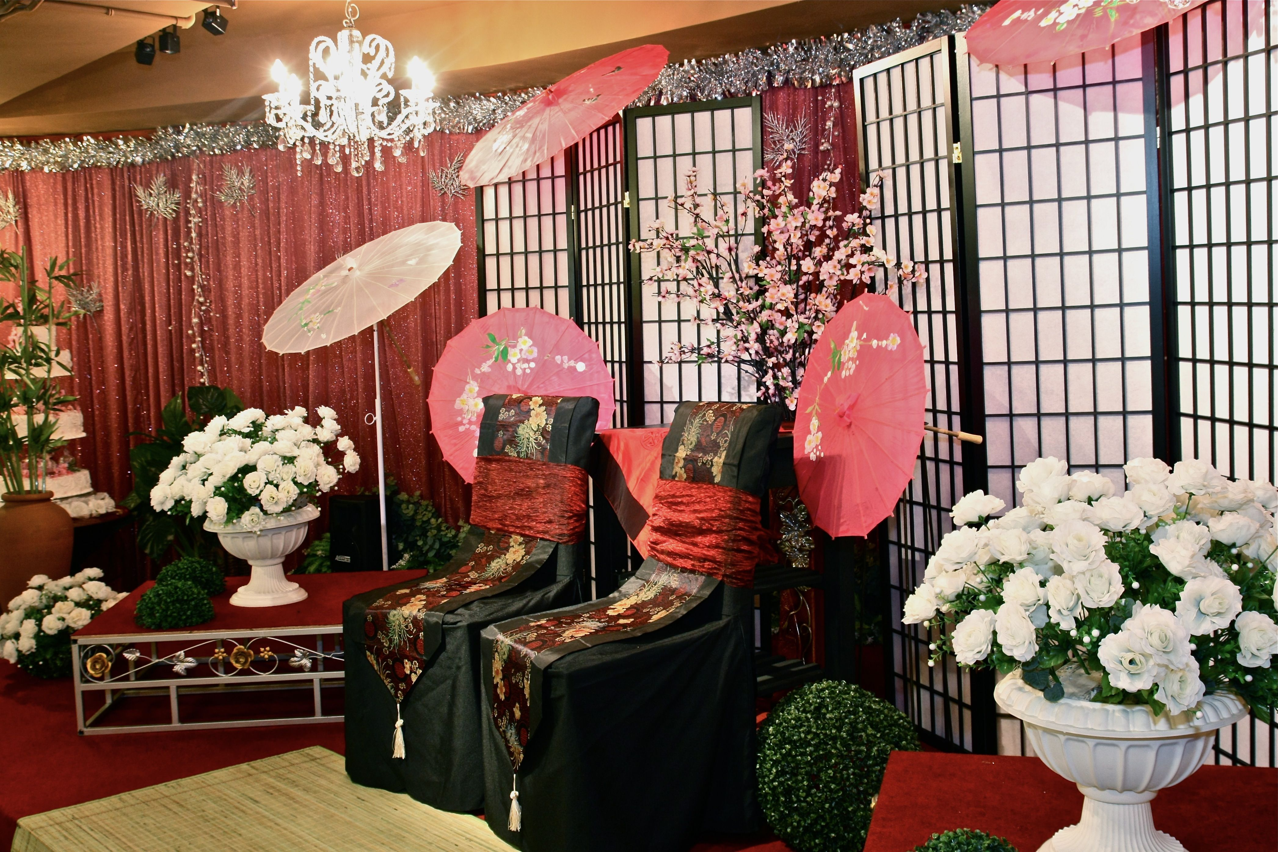 Japanese or chinese themed weddings decorations asian wedding japanese or chinese themed weddings decorations junglespirit Images