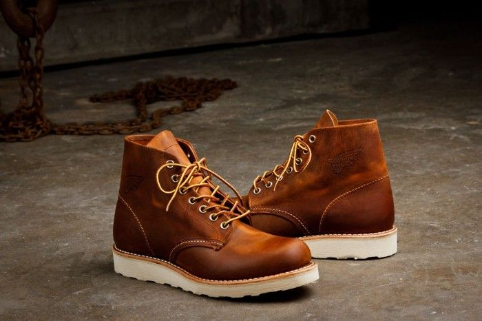 red wing crepe sole boots