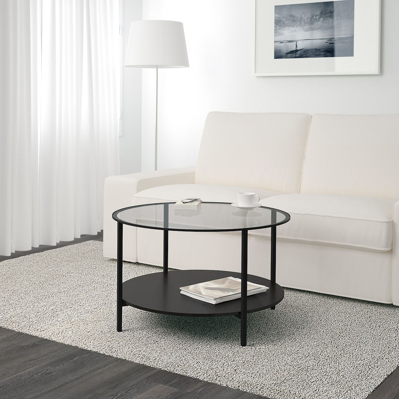 Ikea Couchtisch Mit Glas VittsjÖ Coffee Table, Black-brown/glass, 291/2\