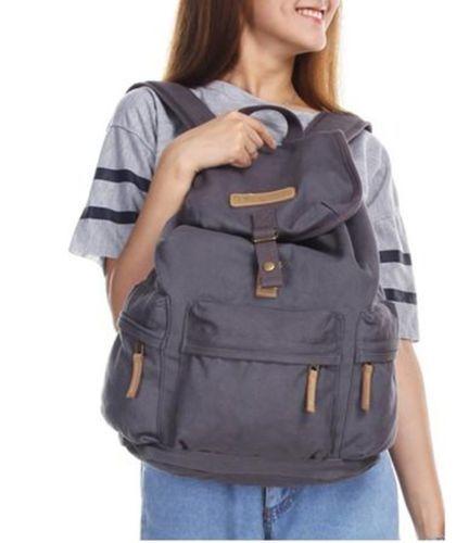 Canvas DSLR Camera Backpack Rucksack Bag Vintage Travel Hiking Should Bag US