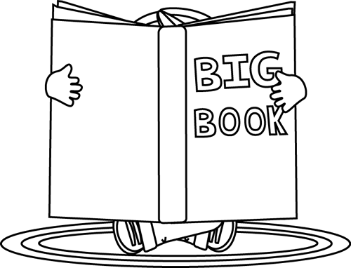 Black And White Kid Reading A Big Book Clip Art Black And White Kid Reading A Big Book Image Book Clip Art Kids Reading Big Book