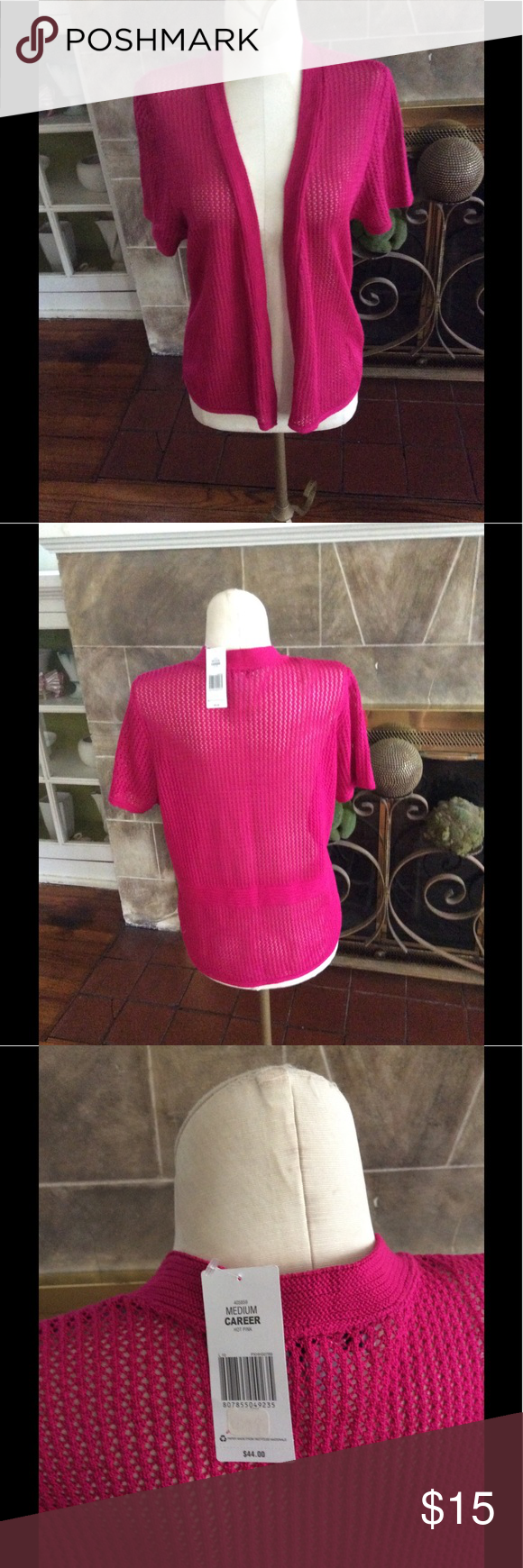 Kim Rogers Hot Pink Sweater NWT | Hot pink sweater, Pink sweater ...