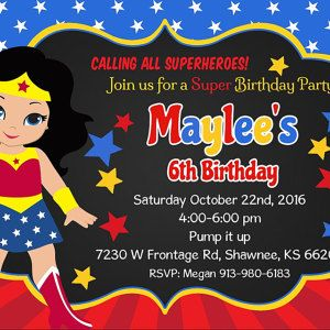 Wonder woman party invitation wonder woman invitation wonder woman wonder woman party invitation wonder woman invitation wonder woman birthday invitation ww party invitation wonder woman digital file stopboris Gallery