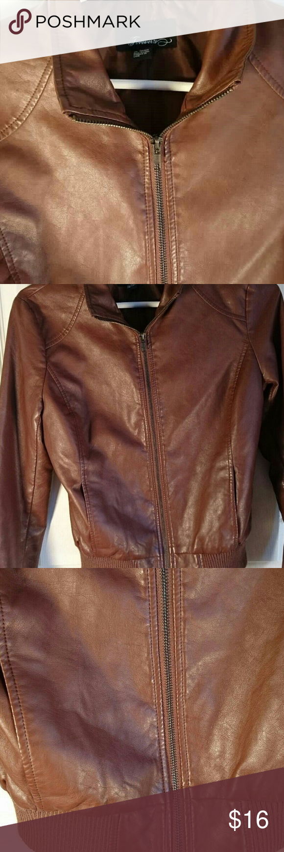 SOLD Forever 21 Moto Rockabilly Jacket Jackets, Brown