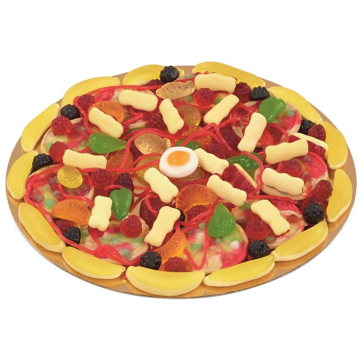 Le Nouveau Bonbon Candy Pizza De La Marque Look O Look Avec 24 Cm De Diametre Est Similaire Une Pizza Traditionnelle Candy Pizza Healthy Candy Fruit Jelly