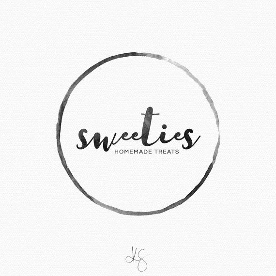 For purchase | Watercolor logo design by: Kelcie Saunders | http://etsy.me/2aWGDoX