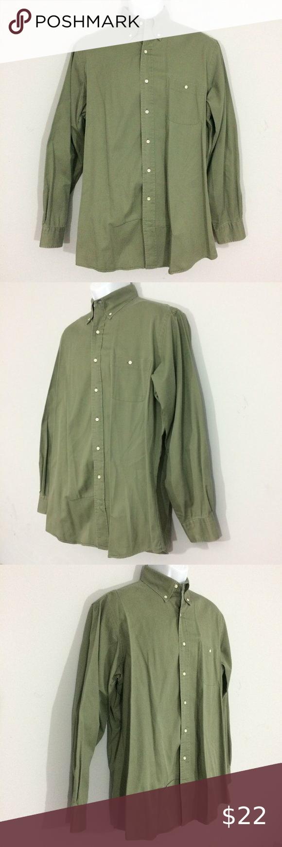 Jos A Bank Mens 16.5 3536 Green Button Up Shirt Jos A