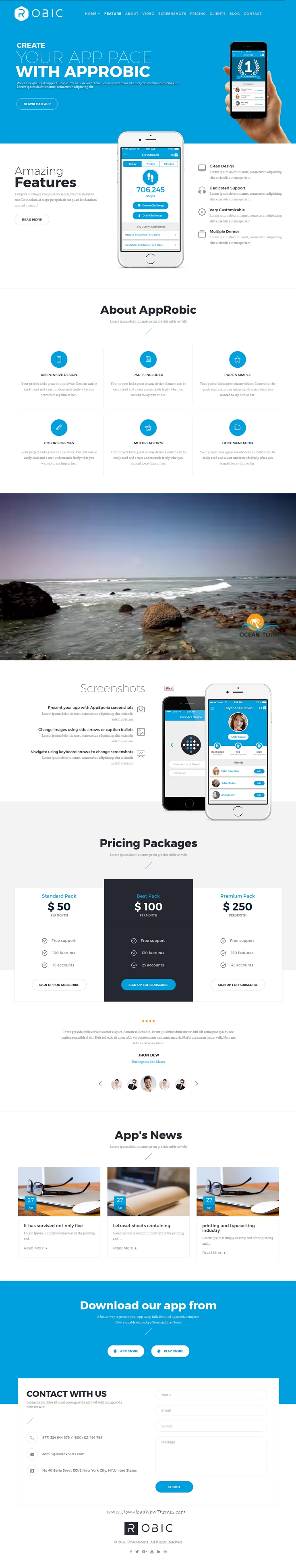 Robic Is A Responsive Clean And Modern Designed Multipurpose - Joomla landing page template