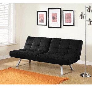 Mainstays Contempo Futon Sofa Bed, Multiple Colors 160 (w) Office/studio