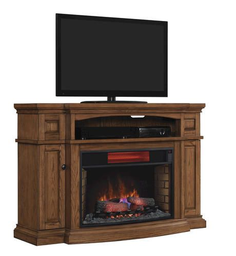 Midway Electric Fireplace In Premium Oak At Menards 699