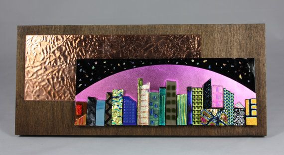 City Scapes 25 by GlassbySharona on Etsy