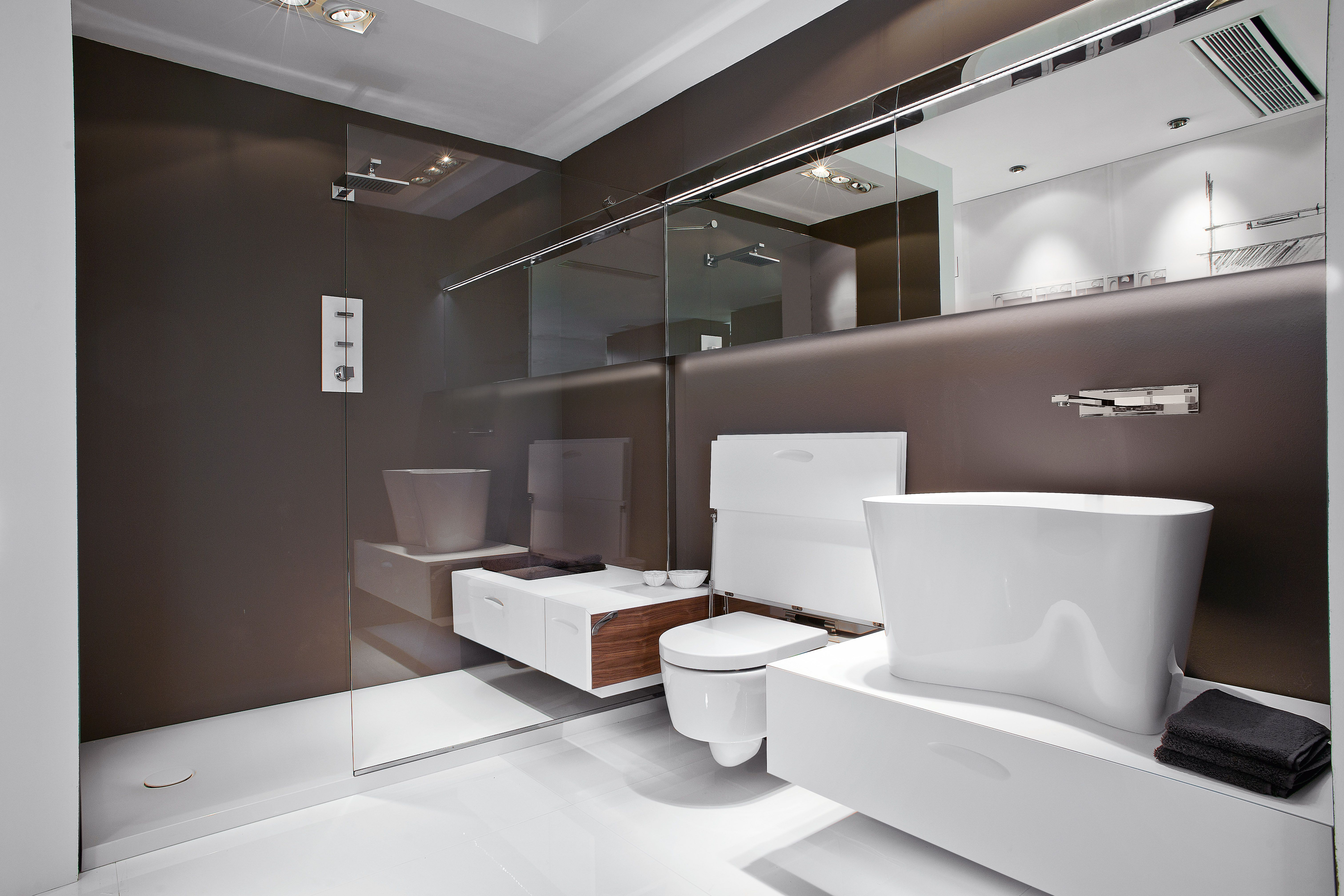 Joints Salle De Bain Bicarbonate ~ Frosted Back Painted Glass Bathroom Pinterest Frosting And