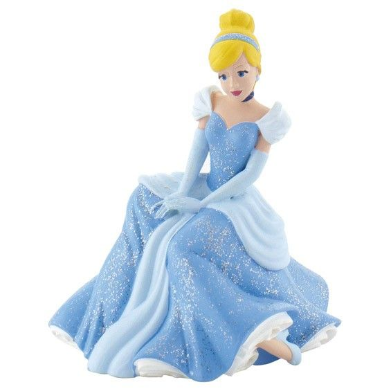 This sitting Cinderella cake topper is perfect for any Princess or