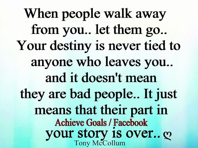 From when you people walk away How To