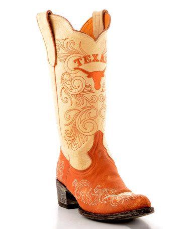 6af6482ec41 Look what I found on #zulily! Texas Longhorns Cowboy Boot - Women ...
