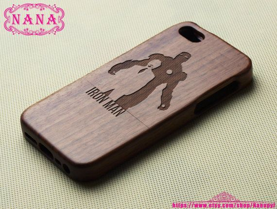 Iron Man iPhone 5S case  Wood iPhone 4s/5s case  Wooden by Nanapyl, $23.85