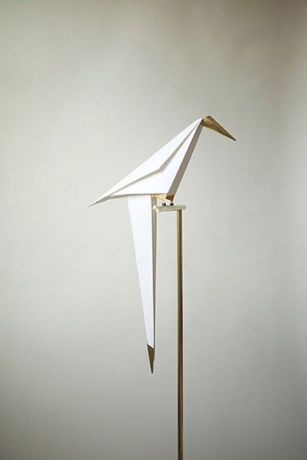 Origami Paper Bird Lamp By Umut Yamac