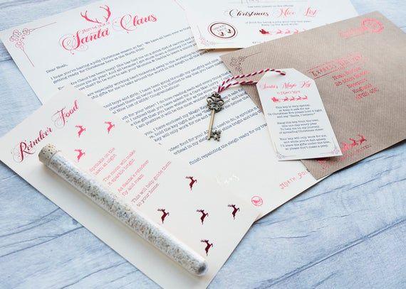 Personalised Letter from Santa - Nice List Certificate - Magic Key - Reindeer Food - Customised #reindeerfoodrecipe