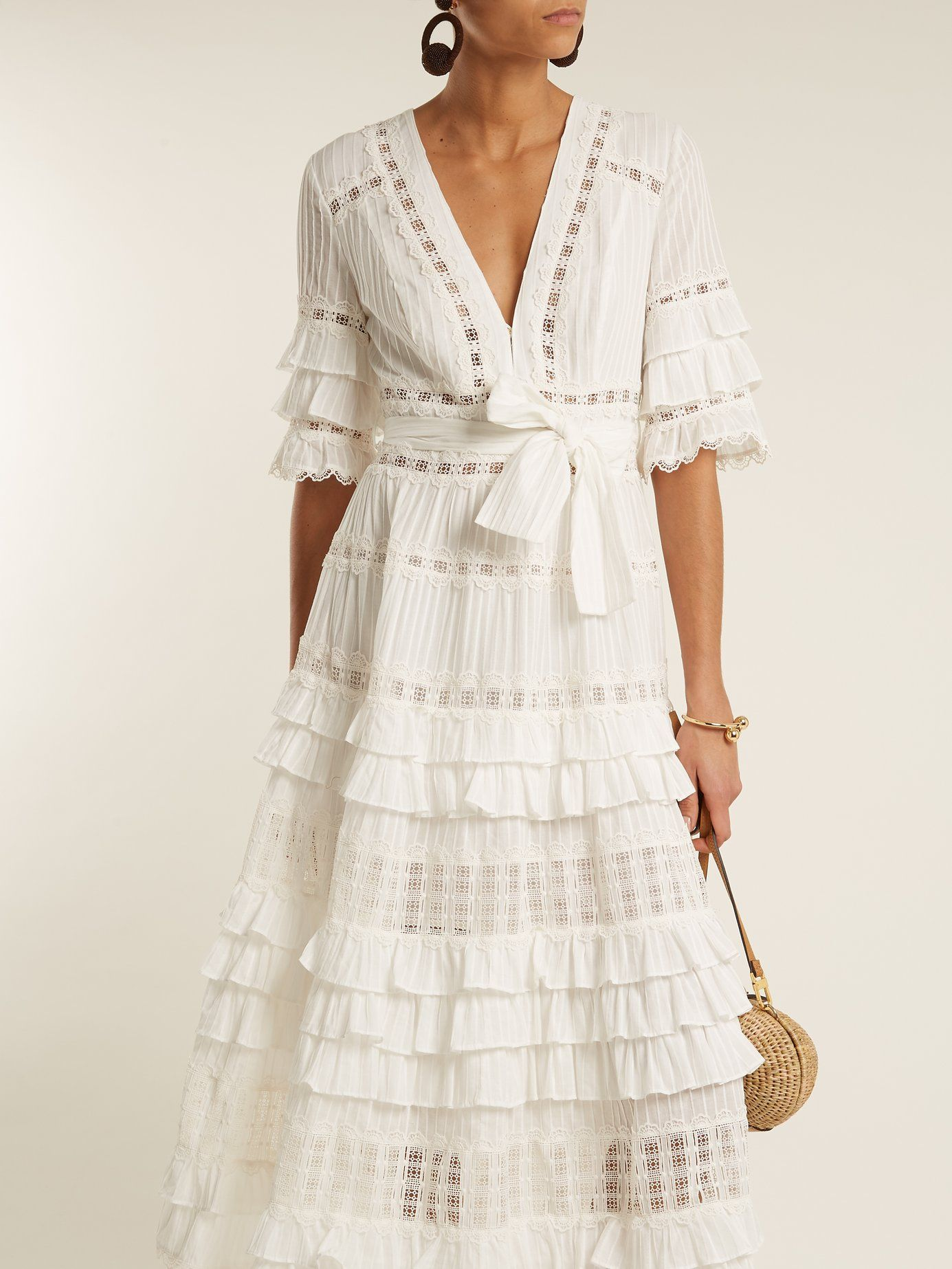 Click Here To Buy Zimmermann Corsail Lace Insert Cotton Dress At Matchesfashion Com Fashion Dresses Boho Dress [ 1846 x 1385 Pixel ]
