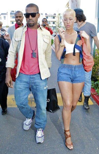 Kanye West Kanye And Amber Rose Amber Rose Kanye West Amber Rose Style