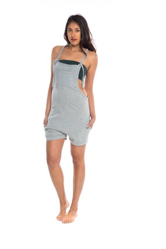 16defc181c Womens Mini Romper - Jumpsuit - Drop Crotch Playsuit Jersey Cotton Yoga  Shorts Yoga Clothes Overalls