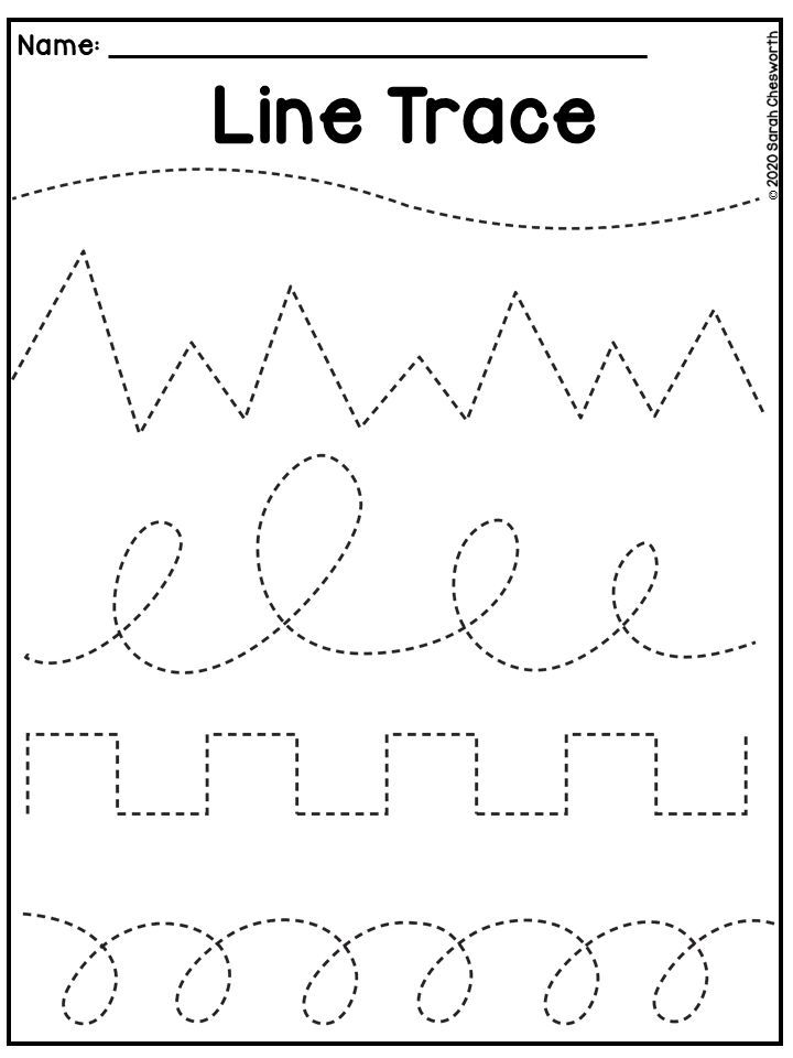 Line Tracing Worksheet