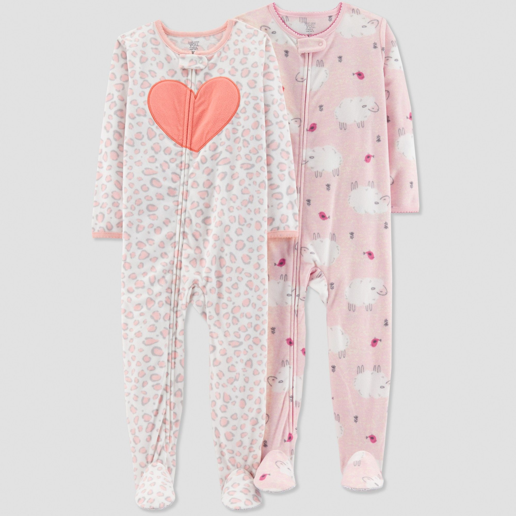 49e1133e4fc4 Toddler Girls  Sheep Pajama Set - Just One You made by carter s Pink ...