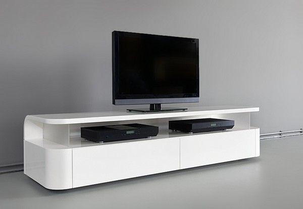 Dise o de interiores arquitectura mueble funcional de tv audio con un aspecto elegante y - Muebles para tv minimalistas ...