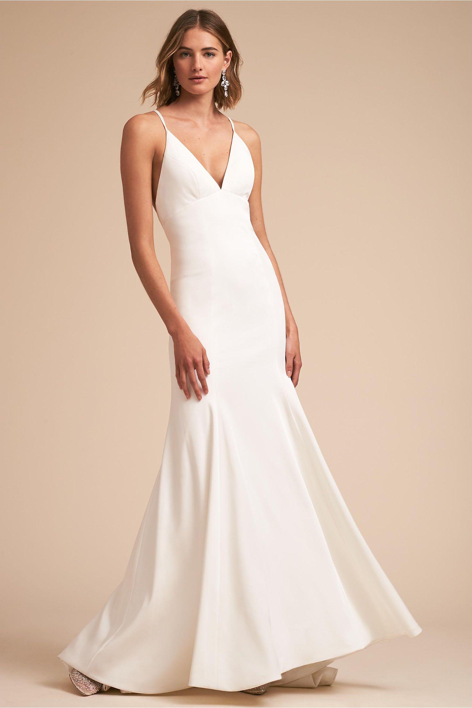 Bhldnus jenny yoo estelle gown in ivory in wedding dresses