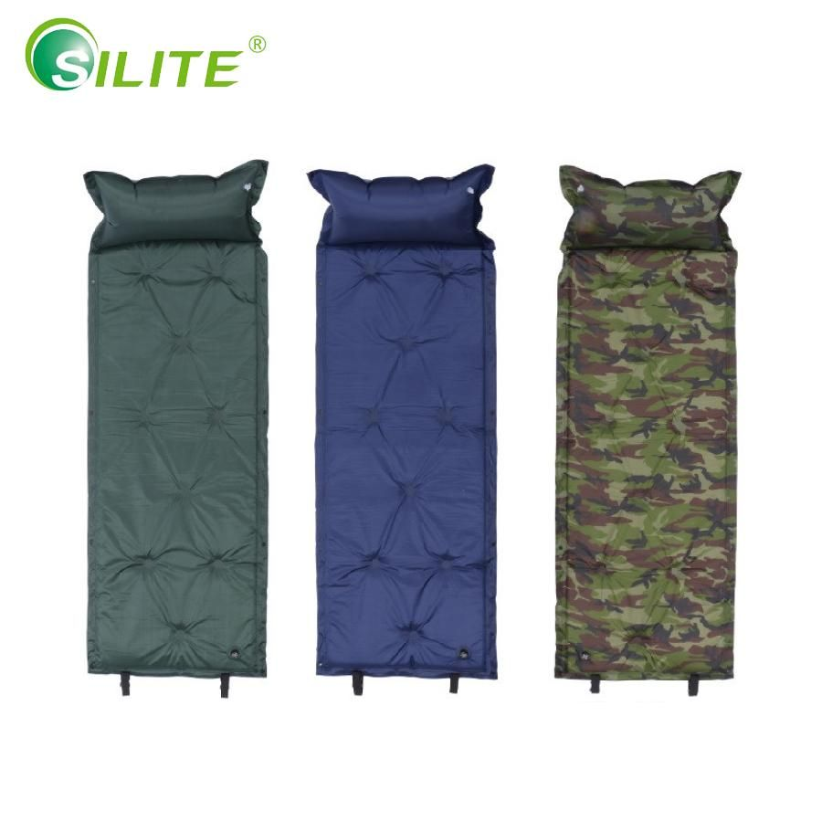Single Self Inflating Camping Roll Mat Outdoor Inflatable Sleeping Mattress Pad
