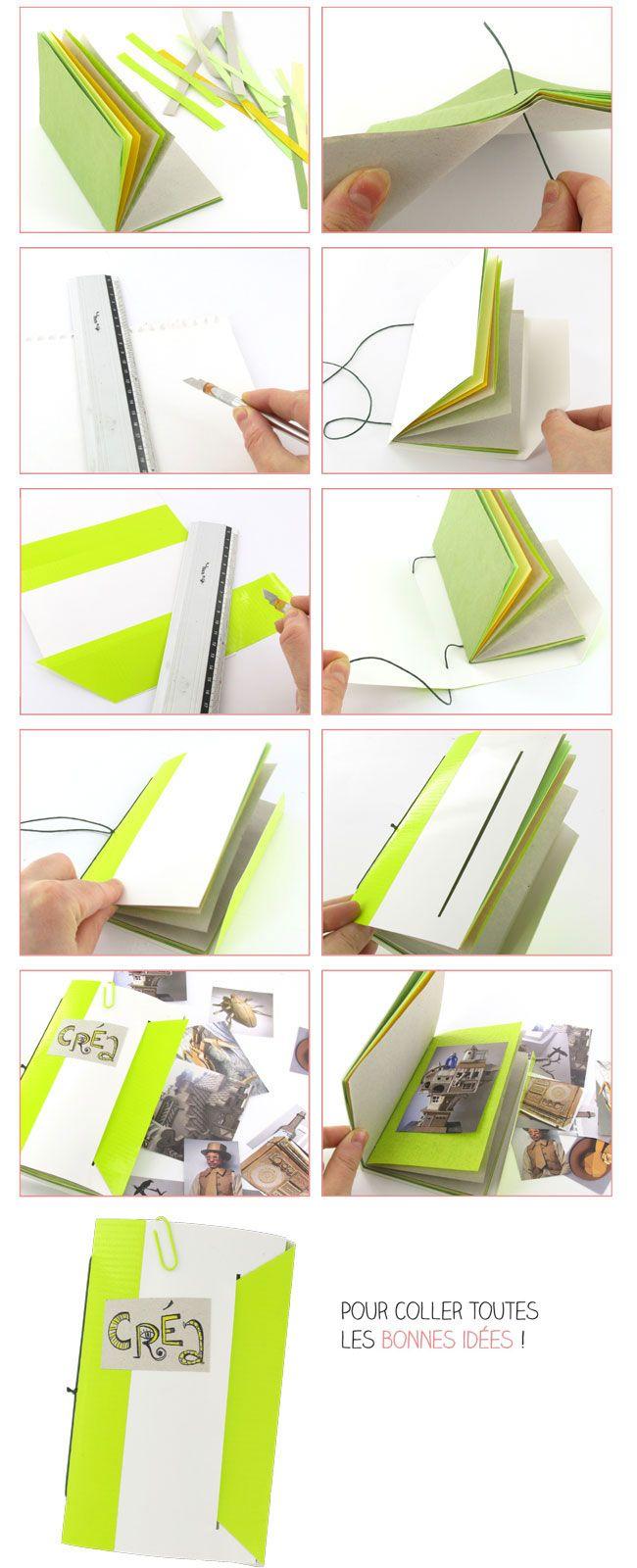 carnet fabriquer carnets carnet diy carnet et livre cousu. Black Bedroom Furniture Sets. Home Design Ideas