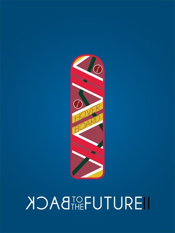 Back To The Future Ii Minimalist Film Movie Poster 10 00 Via