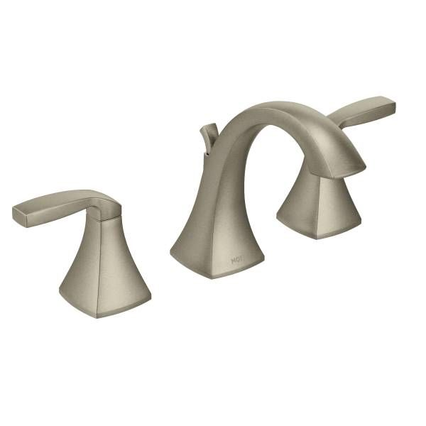 Eva Brushed Nickel Two Handle High Arc Roman Tub Faucet Includes