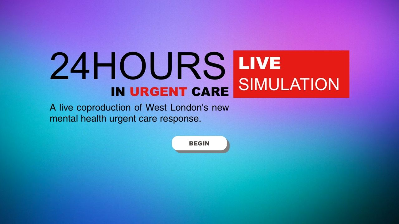 Coproduction in Urgent Care We Coproduce Urgent care