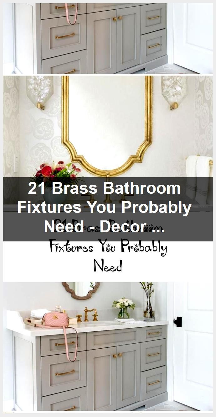 Photo of 21 Brass Bathroom Fixtures You Probably Need – Decoration,  #Bathroom #Brass #Decoration #Fix…
