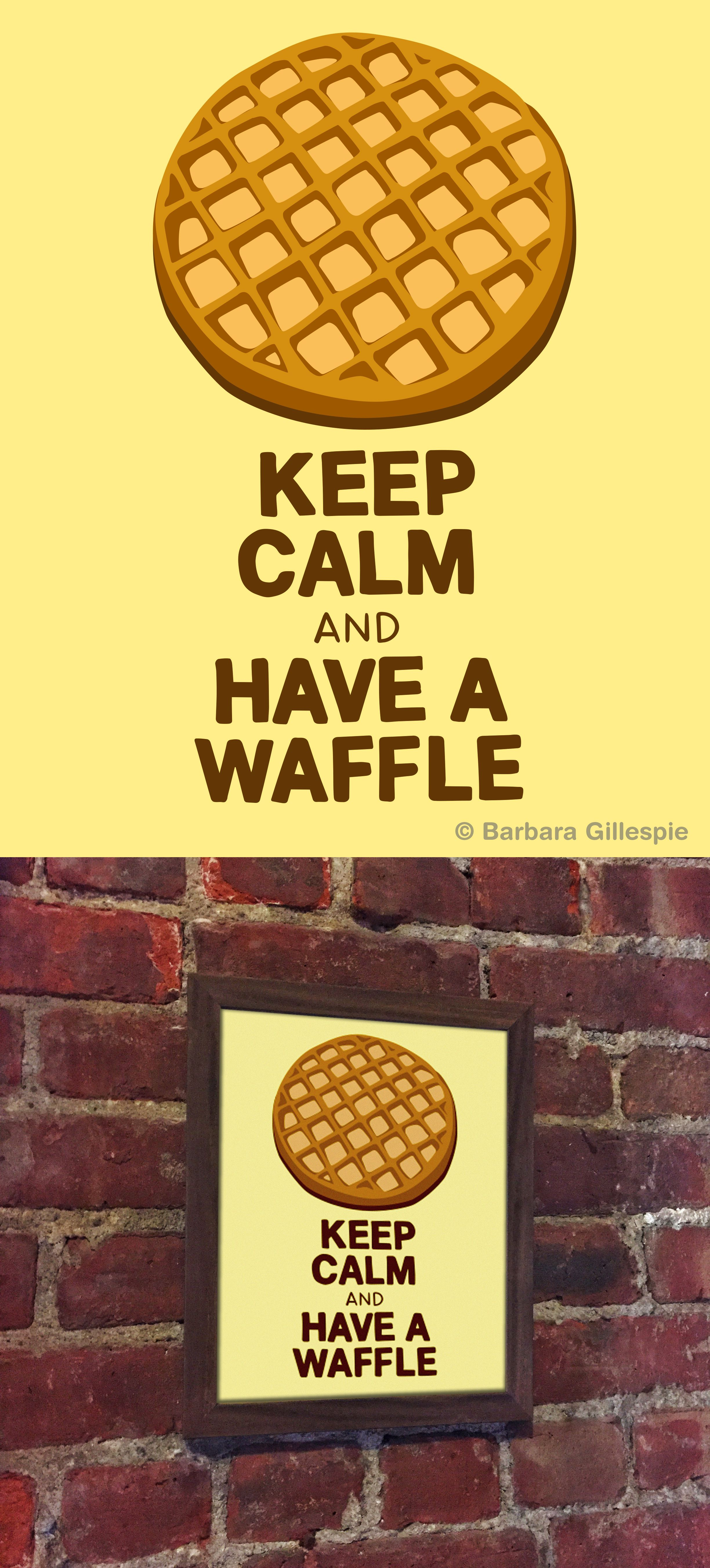Keep calm and carry on with this tasty Waffle Art Print. Available ...