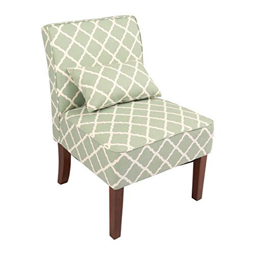 Green Pattern Accent Chair: Innovex Novian Accent Chair, Green Pattern, Adult