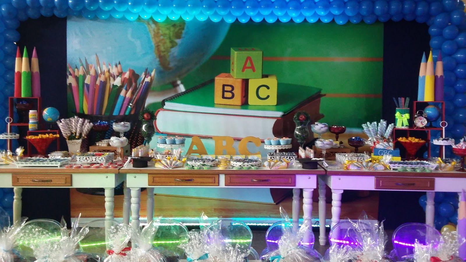 Festa Formatura ABC Buscar con Google Decoracion Graduacion Infantil Pinterest