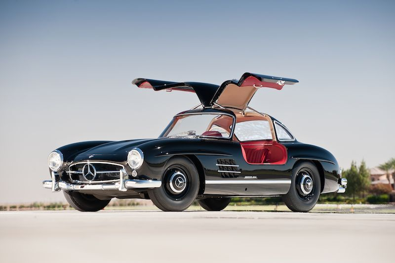 1957 Mercedes Benz 300sl Gullwing Black Mercedes Benz Mercedes Benz 300 Mercedes Benz